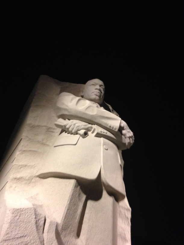 The towering Dr. Martin Luther King memorial