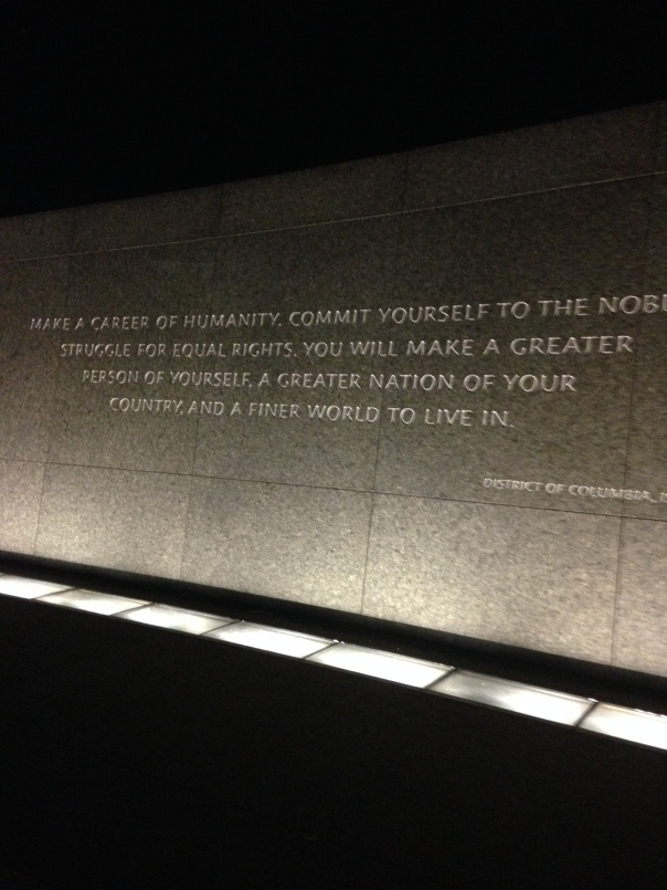 The memorial is lined with quotes which adds to this ever amazing tribute