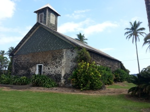 Oral history told to me by a local resident stated that this church was one of the few buildings left with little damage following the 1946 tsunami that devastated much of the north part of Maui