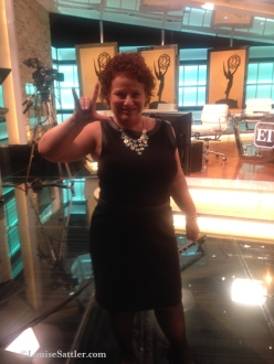 In studio for the EMMYS at ET