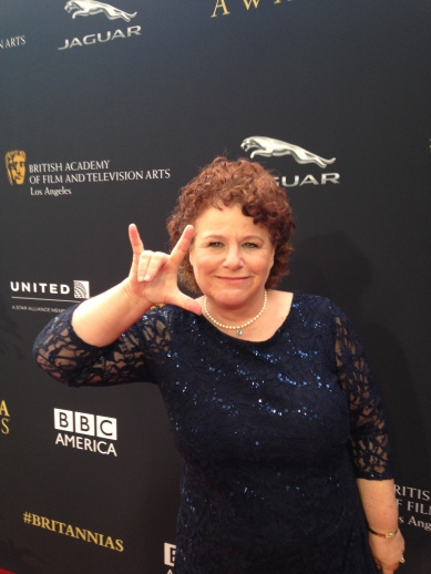 On the red carpet of the BAFTA awards