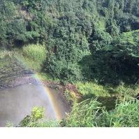Wailua Falls with a rainbow